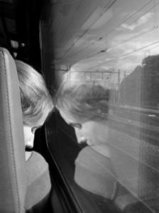 girl on a train