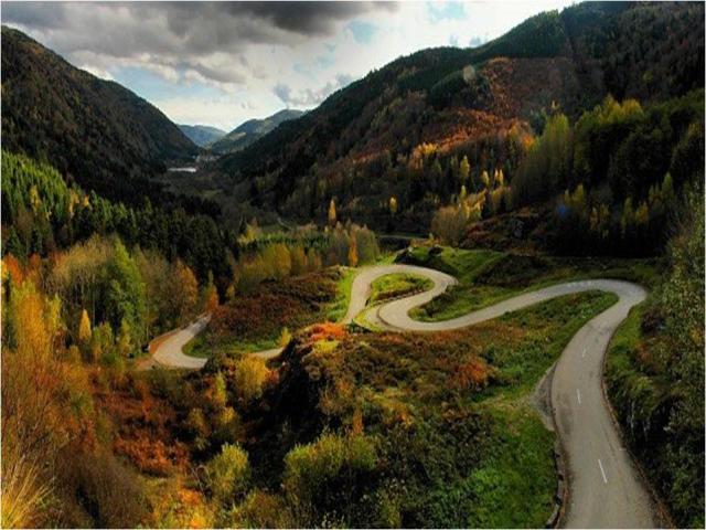 winding back road