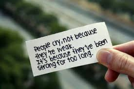 people cry