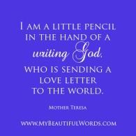 Mother Teresa - Writing God 01