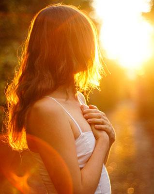 woman sunny