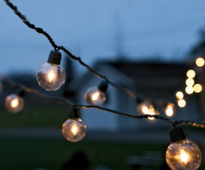 twinkly white lights