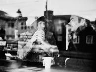 coffee shop window scene