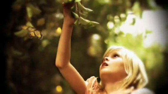 curious little blonde girl