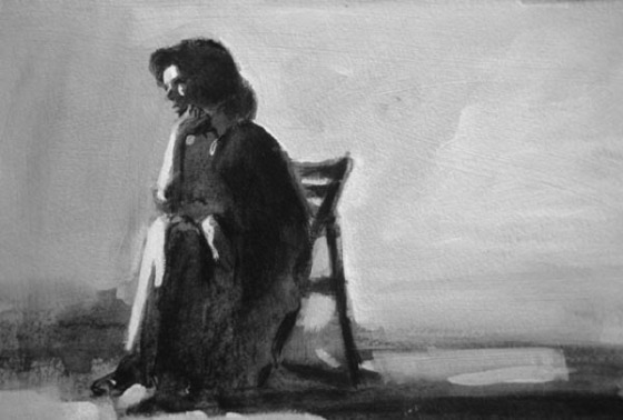 The Thinker woman
